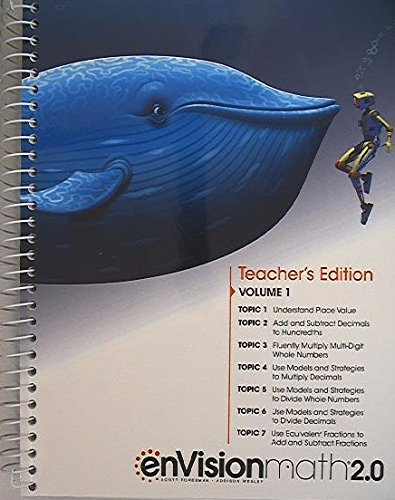 Buy envision math grade 5 teacher edition volume 2
