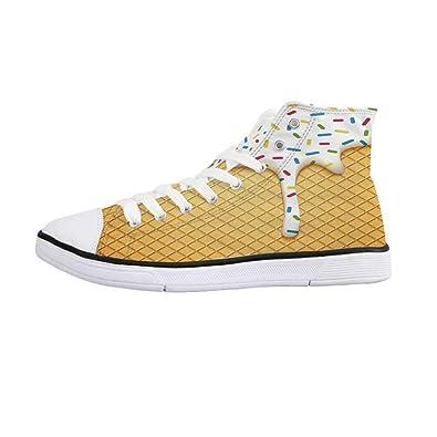 605b91fe52e Amazon.com | Food Decor Comfortable High Top Canvas Shoes, Cartoon ...