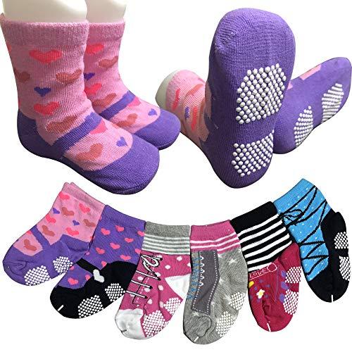 6-Pairs-Toddler-Socks-Baby-Girls-Non-Skid-Crew-Dress-Socks-with-Grips-Infant-Anit-Slip-Kids-Little-Girls-Cotton-Socks12-24-Months