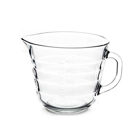 TONGBOSHI Vaso medidor de Vidrio Templado Taza de Desayuno ...