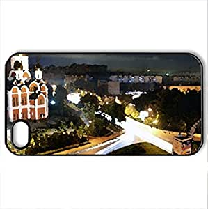 beautiful russian orthodox church - Case Cover for iPhone 4 and 4s (Religious Series, Watercolor style, Black)
