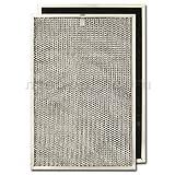 Aluminum/Carbon Range Hood Filter -11 3/8' x 17' x 3/8'