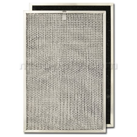 Hotpoint White Electric Range - Aluminum/Carbon Range Hood Filter -11 3/8