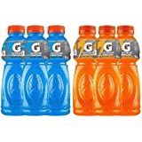 Gatorade Sports Drink 500ml (3 Bottles of Blue Bolt, 3 Bottles of Orange)