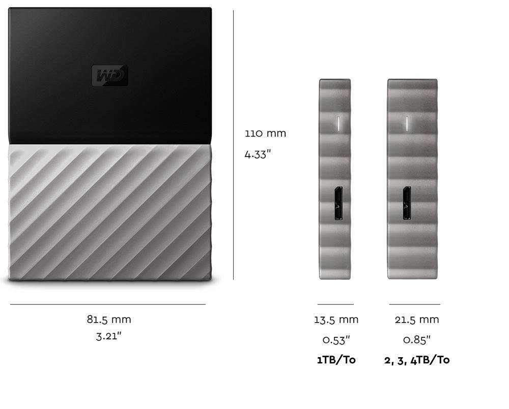 WD 1TB Black-Gray My Passport Ultra Portable External Hard Drive - USB 3.0 - WDBTLG0010BGY-WESN (Old Generation) by Western Digital (Image #7)