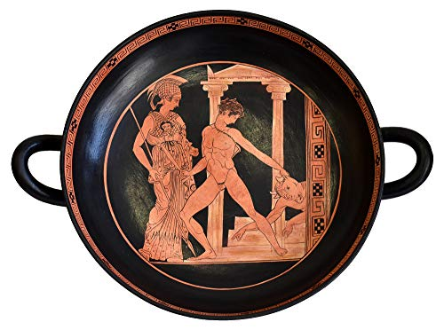 Vase Madrid - Estia Creations Victory of Theseus Over The Minotaur in The Presence of Athena - Madrid Museum