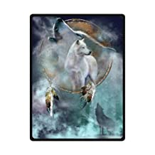 Wolf Dreamcatcher Blanket 58 inches x 80 inches (Large)
