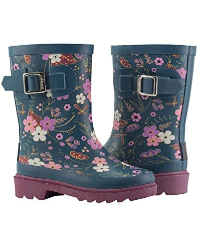 Oakiwear Kids Rubber Rain Boots, Midnight Floral, 4Y US Big Kid by Oakiwear (Image #9)