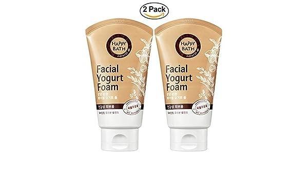 Happy Bath Espuma de yogur facial paquete de limpieza X 2 Para la piel sensible: Amazon.es: Belleza