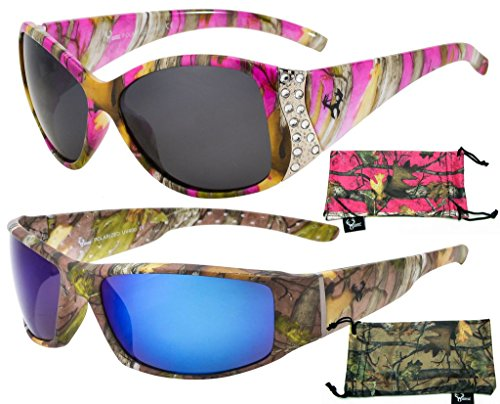 His & Her's Polarized Camouflage Sunglasses - Camo patterns for Men and - For Her Sunglasses