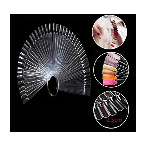 - CINEEN 50 Pieces Nail Art Polish Display Sticks Fake Nail Tips Fan for Vanish Practice Colour Spectrum Display