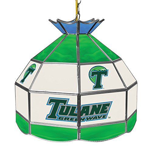 NCAA Tulane 16-Inch Stained Glass Tiffany Lamp by Trademark Global