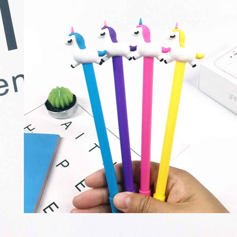 Holibanna Penne per scrittura scuola ufficio penna unicorno 8pcs simpatico cartone animato