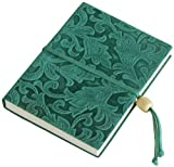 Best Book Beads Composition Notebooks - Amarcord Flowers Embossed Leather Notebook with Bead Closure Review