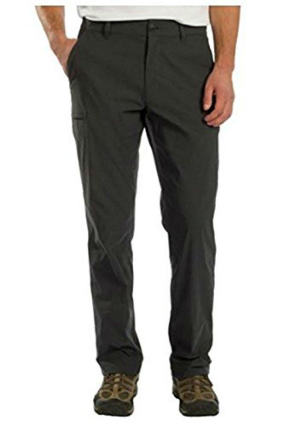 UB Tech Men's Rainier Travel Chino Active Cargo Pants UPF 50 Charcoal 34W 36L