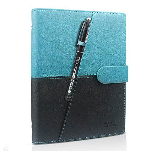 Line The Device Stick Sharing (HOMESTEC Erasable Reusable Smart Notebook PU Leather Hardcover Sketch Pads APP Storage Available with 1 Erasable Pen Perfect for Student/Archiect/Journalist/Writer (100pages-A5-Black & Green))