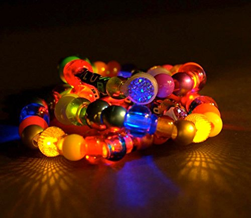 Kandi Wear Poni Beaded Bracelet DIY Kit Blinking l.e.d.