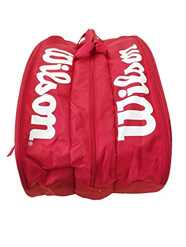 Wilson 12 Schläger Thermo Tasche Schwarz Rot