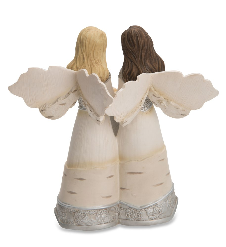 Pavilion Gift Company 82417 Elements Truly Blessed to Have a Wonderful Friend Like You 5 Inch Double Angel Figurine