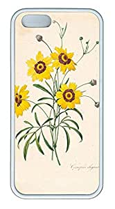 taoyix diy iPhone 5 5S Case nature flower colorful 11 TPU Custom iPhone 5 5S Case Cover White