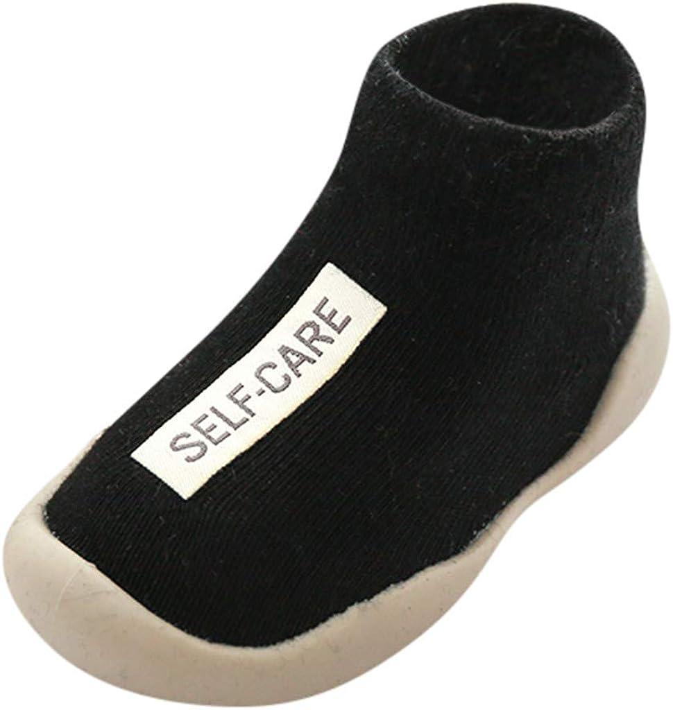 YWLINK Calzado Casual Infantil Zapatos De Goma Antideslizantes Calcetines De Punto Zapatos De Casa OtoñO Nuevas Botas Desnudas Zapatos para BebéS Y NiñOs ReciéN Nacidos Zapatos De Primer Paso