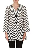 Joseph Ribkoff Black & White Semi-Sheer Zig Zag Striped Jacket Style 171816 (2)