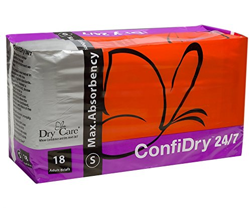 Amazon.com: ConfiDry 24/7 Dry Care Max Absorbency Adult Brief Diapers, Small, 18 Count: Health & Personal Care