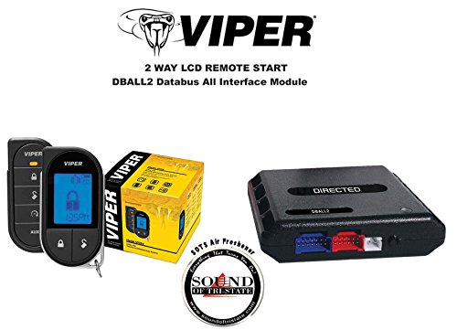 Viper 5706V 2 Way LCD Remote Starter Car Alarm with DBALL2 Bypass Interface and a FREE SOTS Air Freshener