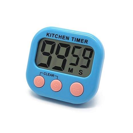F.RUI Temporizador de Cocina EA30 ABS Digital Cocina Reloj Gran Pantalla LCD Alarma Temporizador