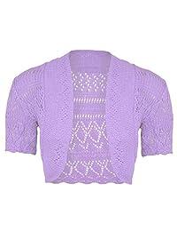 Rimi Hanger Women's Plus Size Knitted Bolero Crochet Cardigan Shrug (SM-4XL)