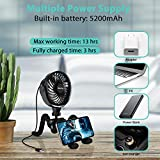 Versatile Fan, 5200mAh Battery Powered Clip-on