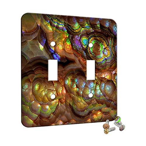 Crystal Rainbow Opulence - Decor Switch Plate Cover Metal (2 Gang Toggle Wall Plate Metal)