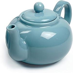 RSVP Chai 16-ounce Teapot, Turquoise