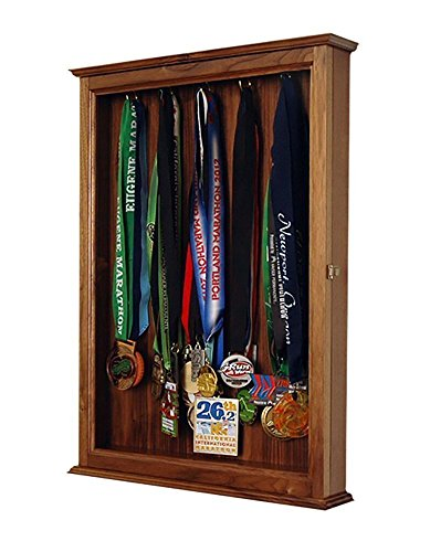 Sports Medal Display Handmade Out Of Solid Walnut in the USA