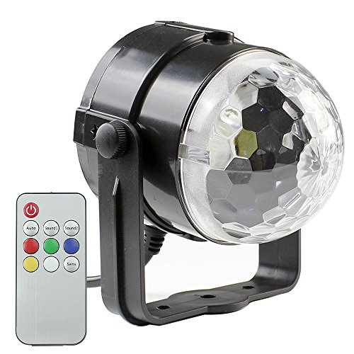 PMS Mini Disco Party Lights with Remote Control, LED Disco Ball Strobe Lights Effect Stage Lighting for Xmas, Dj, Show, Club, etc. - Led Disco Lighting Effect