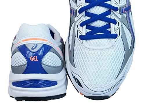 Neuf Pour Hommes/Hommes Blanches/Bleu Asics Gel Ikaia à lacets Basket Course Blanc/bleu - TAILLES UK 6-11.5