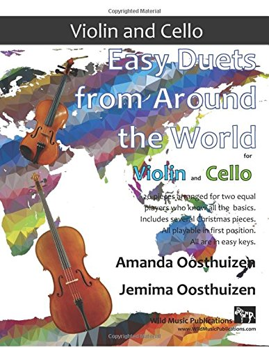 easy duets from around the world for violin and cello pieces 読書
