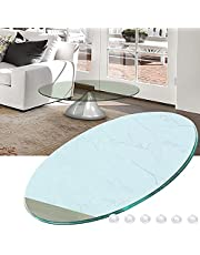 Tempered Glass Table Top Replacement, Multiple Sizes, Waterproof, Round Tempered Glass Table Top, with Flat Polished Edge, 9MM Thick Glass, for Dining Tables, Coffee Tables, Garden Tables