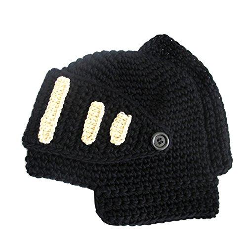 de Estilo casco casquillo de gorrita del tejida romano del invierno Negro Negro caballero mascarilla Sombrero Color la Knit del con de rxYrw5Odq