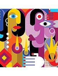 Want Abbott Collection Luncheon A La Picasso Paper Napkins, Multicolor occupation