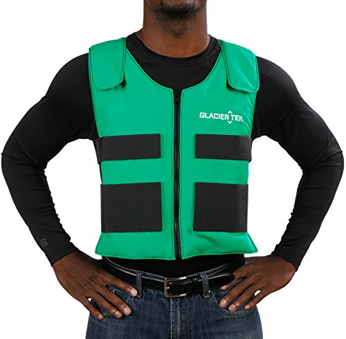 Glacier Tek Sports Cool Vest with Nontoxic Cooling Packs Green by Glacier Tek (Image #7)