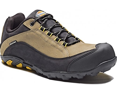 Dickies Mens Workwear Faxon Safety Trainer Grey Black FC9513G - gris-negro