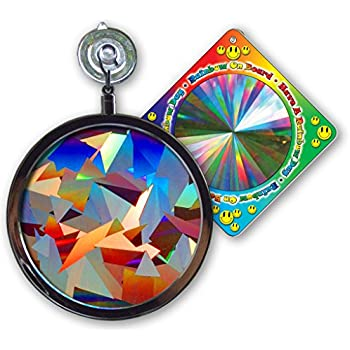 "Suncatcher - Crystal Rainbow Window Sun Catcher - Includes a Bonus ""Rainbow on Board"" Sun Catcher"