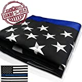 Cheap VINBOM Thin Blue Line Flag 3X5 Nylon Embroidered Flags, Sewn Stripes – Brass Grommets – UV Protection – Blue Line US Banner Flags for Police Flag Honoring Law Enforcement Officers