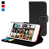 Snugg iPod 5th Generation Case - Flip Cover & Lifetime Guarantee (Black Leather) for Apple iPod ...
