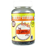 NEW! LICKS Dog Multi-Vitamin Pet Gummi Vitamins – 90-count