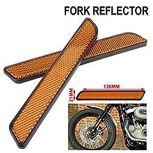 AnXin - Reflector lateral para motocicleta (2 unidades, delantero, para Harley de pierna inferior, Dyna Softail Sportster FXD)