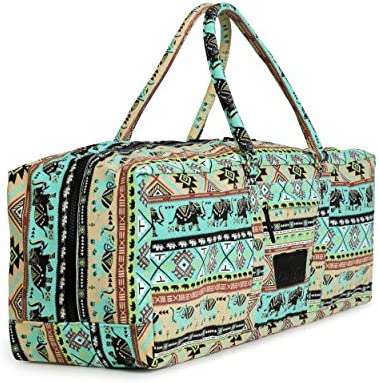 Yogi Path Yoga Mat Bag - Patterned Duffle Bag with Zipper and Pocket  (Bamboo) a1a61e6b40d96
