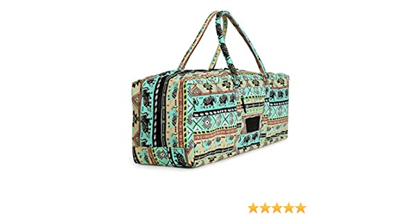 Amazon.com   Yogi Path Yoga Mat Bag - Patterned Duffle Bag with Zipper and  Pocket (Bamboo)   Sports   Outdoors 40f7523e4f34d