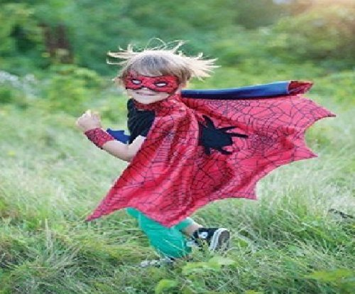 Creative Education Spider Cape Set with Mask & Wristbands, Small Size]()